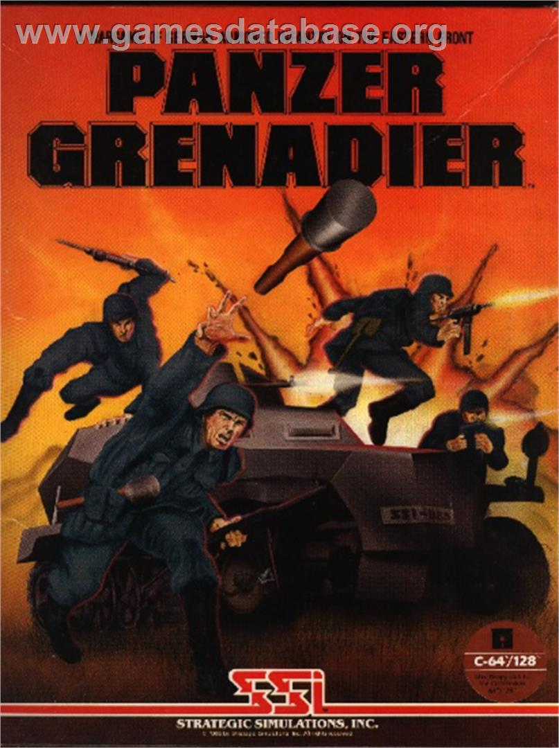 Panzer Grenadier - Commodore 64 - Artwork - Box