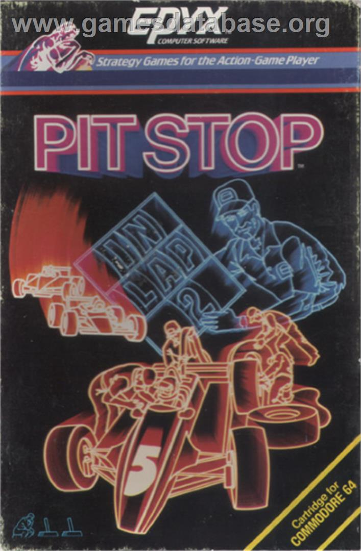Pitstop - Commodore 64 - Artwork - Box