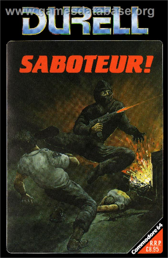 Saboteur - Commodore 64 - Artwork - Box