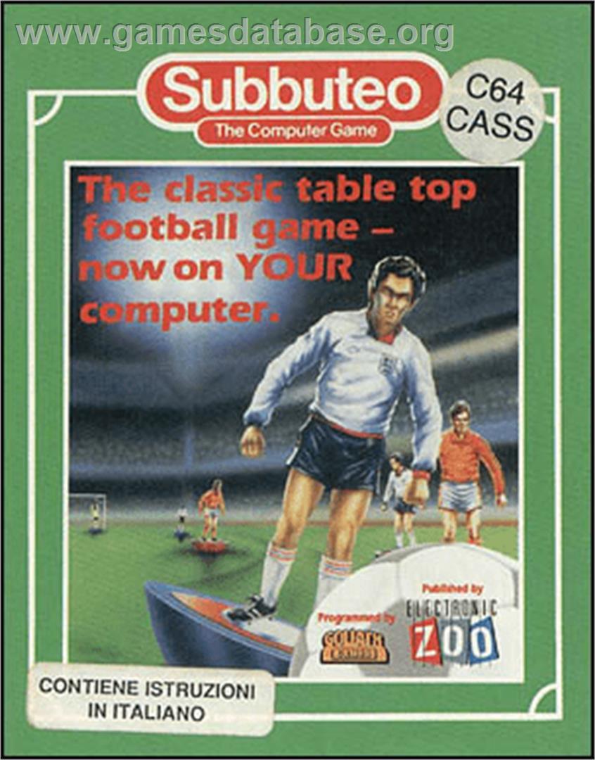 Box cover for Subbuteo on the Commodore 64.