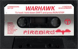 Artwork on the CD for Warhawk (Pre-Release) on the Commodore 64.