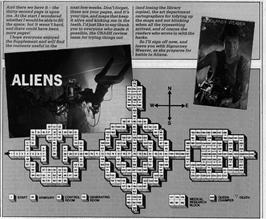 Game map for Aliens on the Amstrad CPC.
