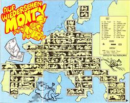 Game map for Auf Wiedersehen Monty on the Amstrad CPC.