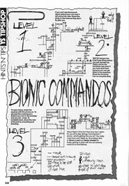 Game map for Bionic Commando on the Arcade.