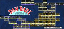 Game map for Dan Dare: Pilot of the Future on the Commodore 64.