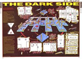 Game map for Dark Side on the Commodore 64.