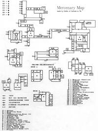 Game map for Mercenary: Escape From Targ with the Second City on the Commodore 64.