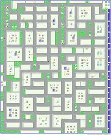 Game map for Miami Vice on the Commodore 64.