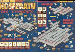 Game map for Nosferatu the Vampyre on the Sinclair ZX Spectrum.