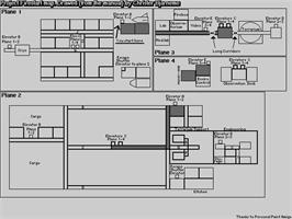 Game map for Project Firestart on the Commodore 64.