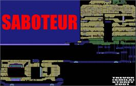Game map for Saboteur on the Commodore 64.