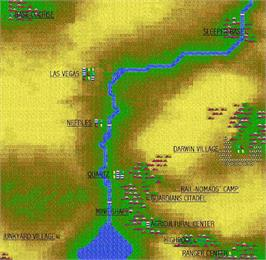 Game map for Wasteland on the Apple II.