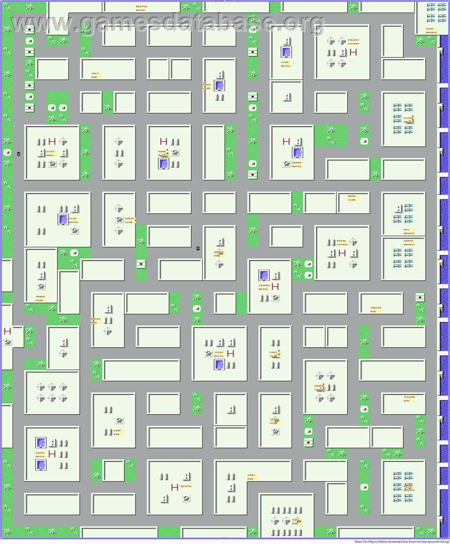 Miami Vice - Commodore 64 - Artwork - Map