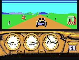 In game image of 1000 Miglia: Volume I - 1927-1933 on the Commodore 64.