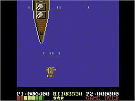 In game image of 1943: The Battle of Midway on the Commodore 64.