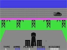 In game image of 3D Tanx on the Commodore 64.