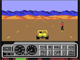 In game image of 4x4 Off-Road Racing on the Commodore 64.