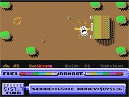 In game image of 5th Gear on the Commodore 64.