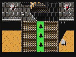 In game image of A.L.C.O.N. on the Commodore 64.