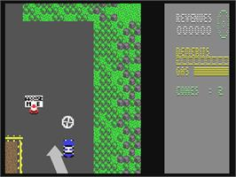 In game image of APB on the Commodore 64.