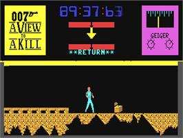 In game image of A View to a Kill on the Commodore 64.