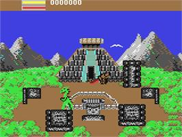 In game image of Aaargh! on the Commodore 64.