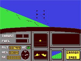 In game image of Ace: Air Combat Emulator on the Commodore 64.