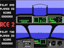 In game image of Ace 2: The Ultimate Head to Head Conflict on the Commodore 64.