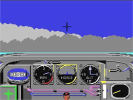 In game image of Ace of Aces on the Commodore 64.