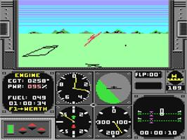 In game image of Acrojet on the Commodore 64.