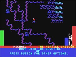 In game image of Adventure Construction Set on the Commodore 64.