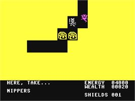 In game image of Adventure Creator on the Commodore 64.