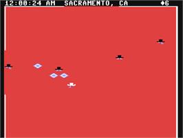 In game image of Agent USA on the Commodore 64.