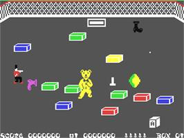 In game image of Ah Diddums on the Commodore 64.