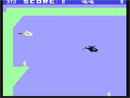 In game image of Air Rescue I on the Commodore 64.
