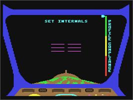 In game image of Aliens: The Computer Game on the Commodore 64.
