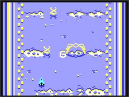 In game image of Alleykat on the Commodore 64.