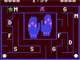 In game image of Alphabet Zoo on the Commodore 64.