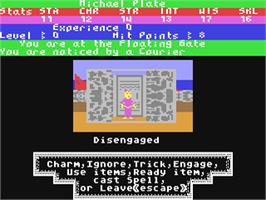 In game image of Alternate Reality: The City on the Commodore 64.