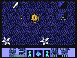 In game image of Amaurote on the Commodore 64.