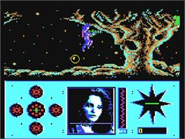In game image of Amazon on the Commodore 64.