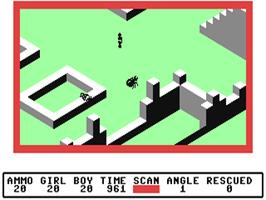 In game image of Ant Attack on the Commodore 64.