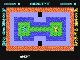 In game image of Archon II: Adept on the Commodore 64.