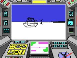 In game image of Arcticfox on the Commodore 64.