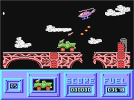 In game image of Army Moves on the Commodore 64.
