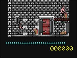 In game image of Artura on the Commodore 64.