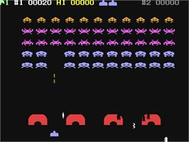 In game image of Avenger on the Commodore 64.