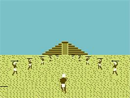 In game image of Aztec Challenge on the Commodore 64.