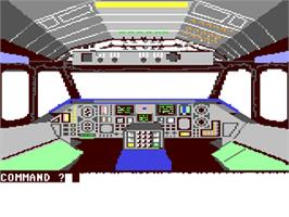In game image of B-1 Nuclear Bomber on the Commodore 64.