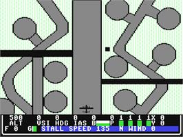 In game image of B-24 Combat Simulator on the Commodore 64.